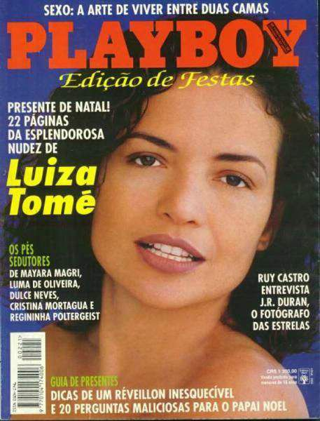Capa da playboy de dezembro  de 1993 com a Luiza Tome