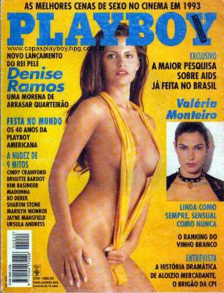 Capa da playboy de fevereiro  de 1994 com a Denise Ramos