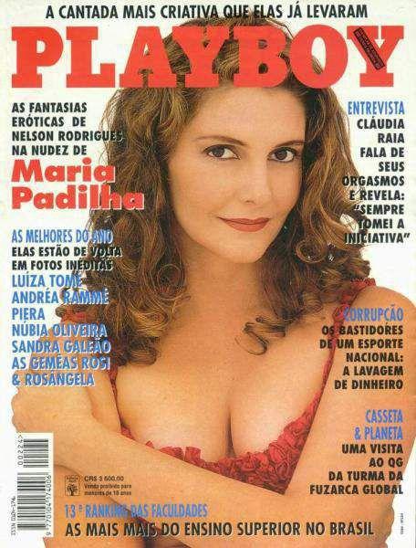 Capa da playboy de março  de 1994 com a Maria Padilha
