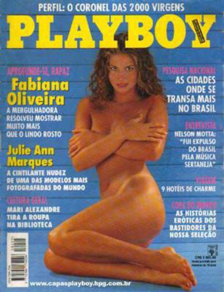Capa da playboy de abril  de 1994 com a Fabiana Oliveira