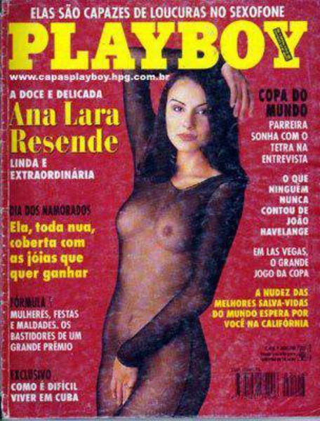 Capa da playboy de maio  de 1994 com a Ana Lara Resende