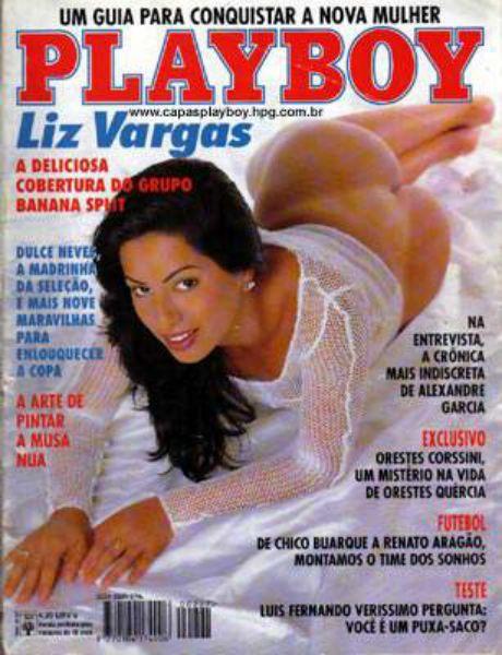 Capa da playboy de junho  de 1994 com a Liz Vargas