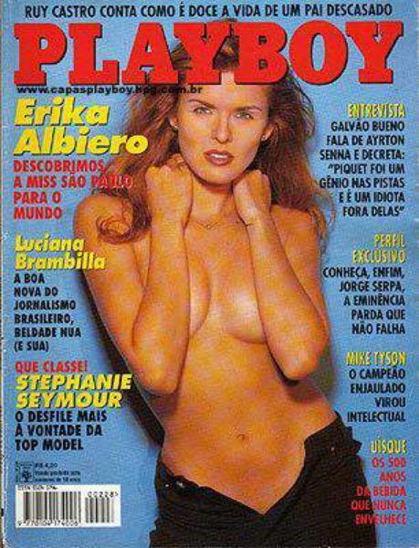 Capa da playboy de julho  de 1994 com a Erika Albiero