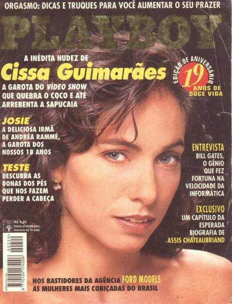 Capa da playboy de agosto  de 1994 com a Cissa Guimaraes