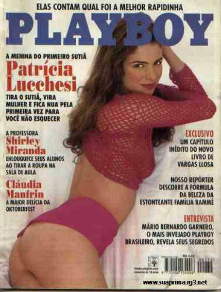 Capa da playboy de novembro  de 1994 com a Patricia Lucchesi