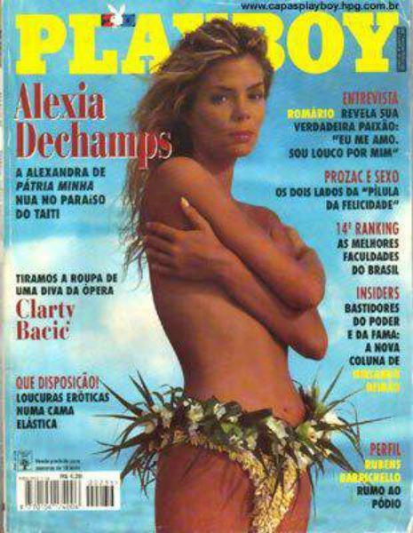 Capa da playboy de março  de 1995 com a Alexia Deschamps