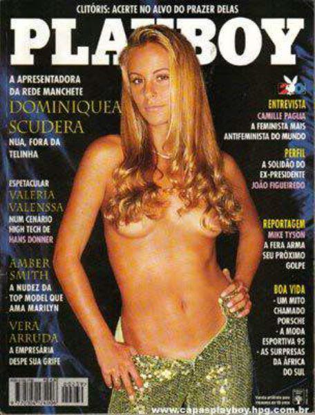 Capa da playboy de junho  de 1995 com a Dominique Scudera