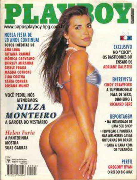 Capa da playboy de setembro  de 1995 com a Nilza Monteiro