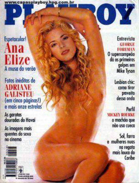 Capa da playboy de fevereiro  de 1996 com a Ana Elize