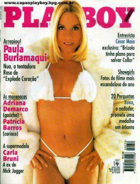 Capa da playboy de maio  de 1996 com a Paula Burlamaqui