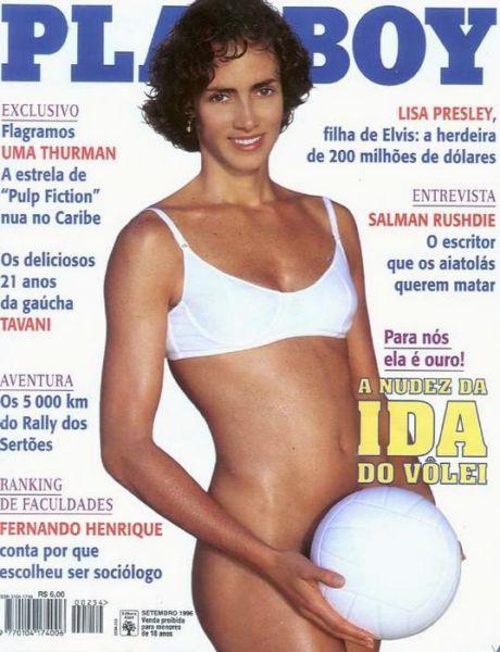 Capa da playboy de setembro  de 1996 com a Ida