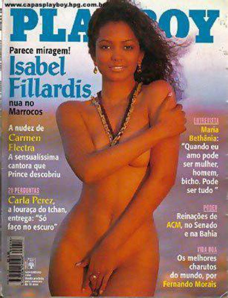 Capa da playboy de novembro  de 1996 com a Isabel Fillardis