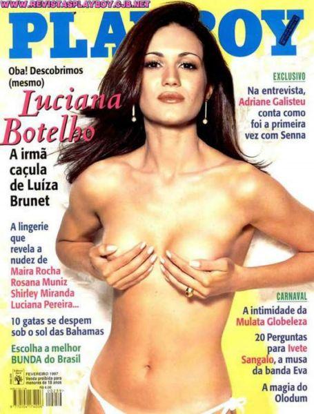 Capa da playboy de fevereiro  de 1997 com a Luciana Botelho