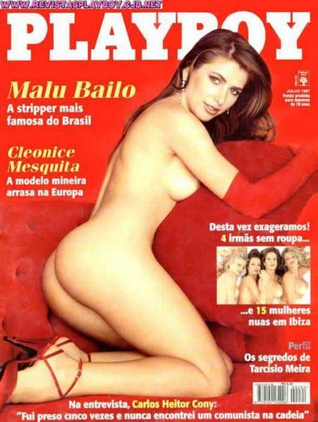 Capa da playboy de julho  de 1997 com a Malu Bailo