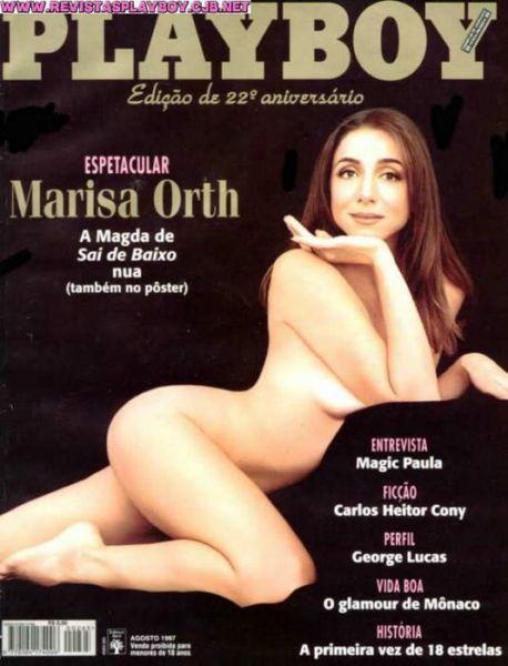 Capa da playboy de agosto  de 1997 com a Marisa Orth