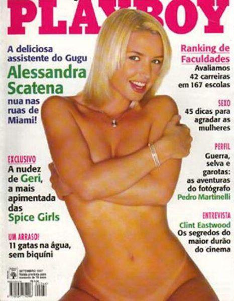 Capa da playboy de setembro  de 1997 com a Alessandra Scatena
