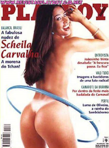 Capa da playboy de fevereiro  de 1998 com a Scheila Carvalho