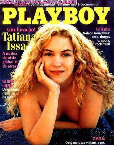 Capa da playboy de março  de 1998 com a Tatiana Issa