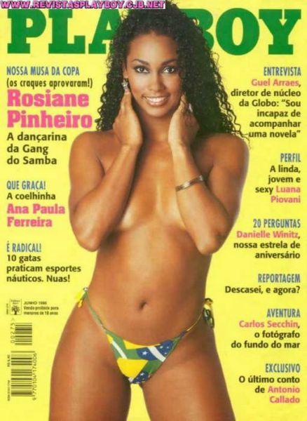 Capa da playboy de junho  de 1998 com a Rosiane Pinheiro