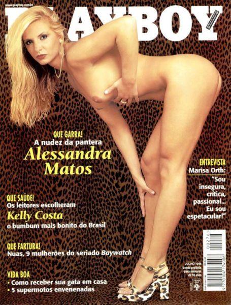 Capa da playboy de julho  de 1998 com a Alessandra Matos