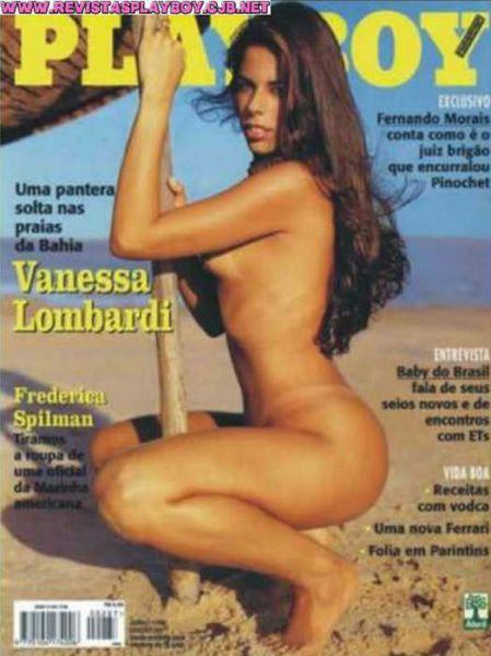 Capa da playboy de junho  de 1999 com a Vanessa Lombardi