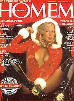 Capa da playboy de dezembro  de 1977 com a Sandra Theodore