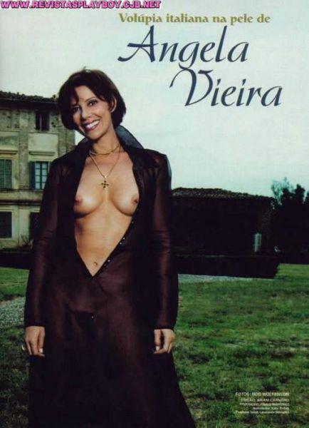 Capa da playboy de outubro  de 1999 com a angela Vieira