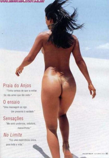 Capa da playboy de outubro  de 2000 com a Andreia Baptista