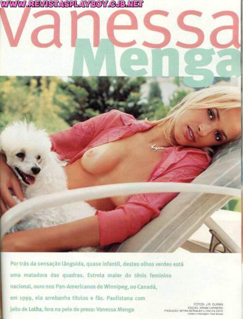 Capa da playboy de fevereiro  de 2001 com a Vanessa Menga