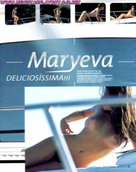 Capa da playboy de julho  de 2003 com a Maryeva Oliveira