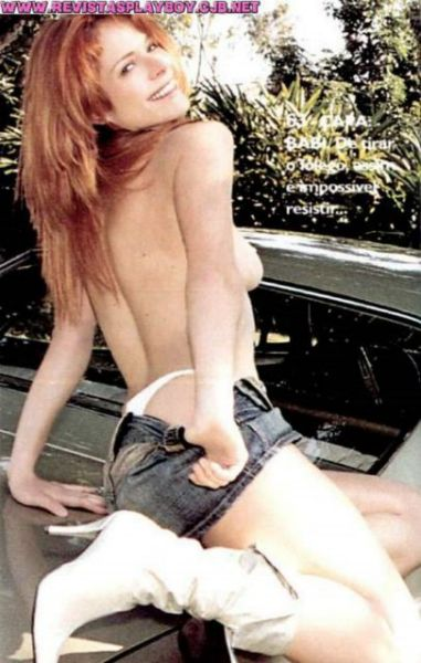Capa da playboy de setembro  de 2003 com a Babi Xavier