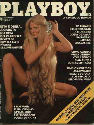 Capa da playboy de julho  de 1978 com a Debra Jo Fondren