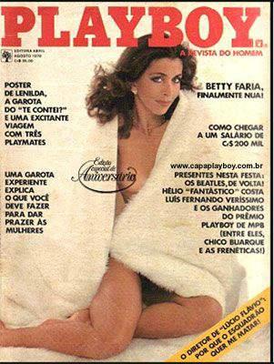 Capa da playboy de agosto  de 1978 com a Betty Faria