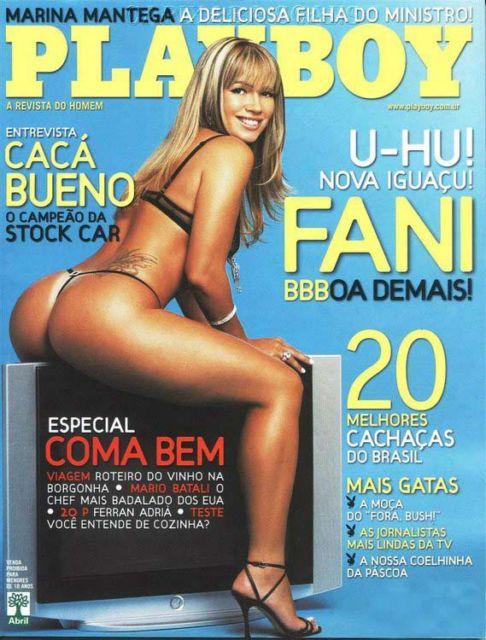 Capa da playboy de abril  de 2007 com a Fani Pacheco
