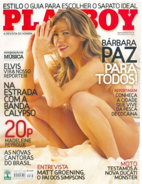 Fotos Barbara Paz nua, Fotos da Barbara Paz na playboy, todas as fotos pelada, playboy de setembro de 2007
