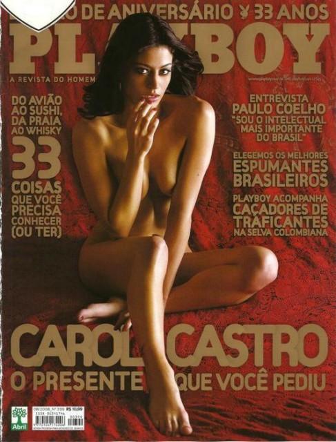 Capa da playboy de agosto  de 2008 com a Carol Castro