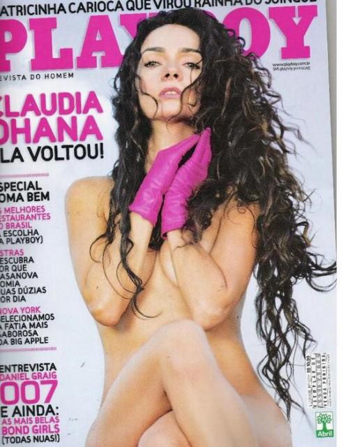 Capa da playboy de novembro  de 2008 com a Claudia Ohana