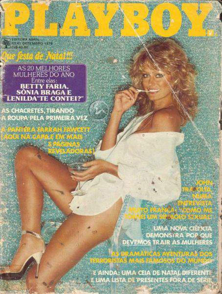 Capa da playboy de dezembro  de 1978 com a Farrah Fawcett