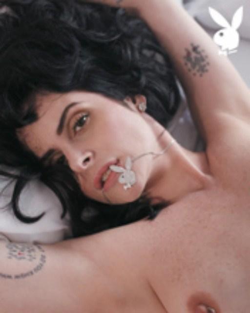 Capa da playboy de novembro  de 2009 com a Fernanda Young