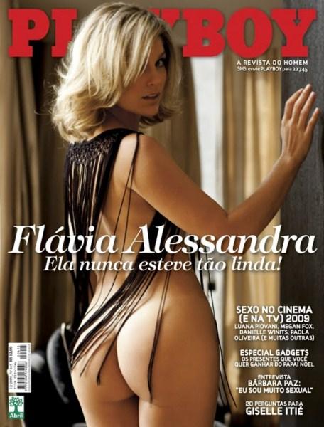 Capa da playboy de dezembro  de 2009 com a Flavia Alessandra