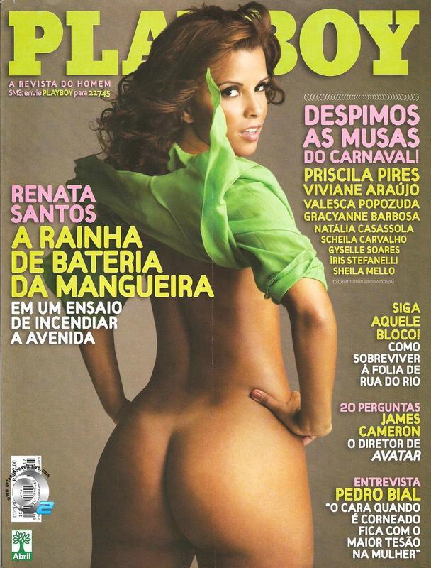 Capa da playboy de fevereiro  de 2010 com a Renata Santos