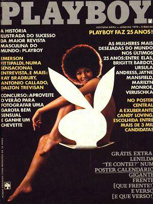 Capa da playboy de janeiro  de 1979 com a Darine Stern
