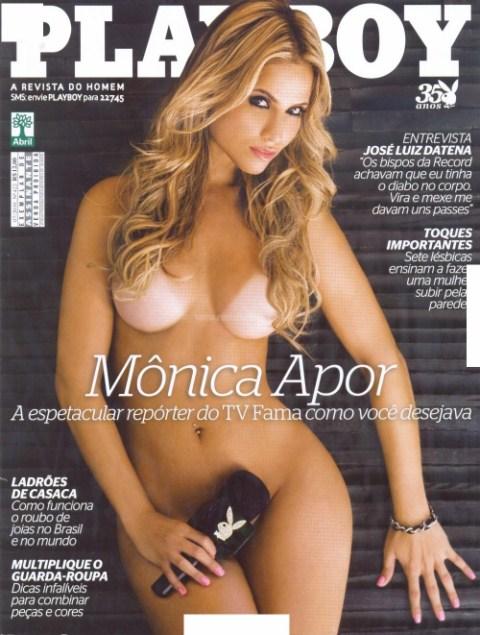 Capa da playboy de julho  de 2010 com a Monica Apor