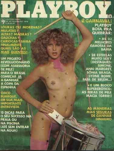 Capa da playboy de fevereiro  de 1979 com a Marisa