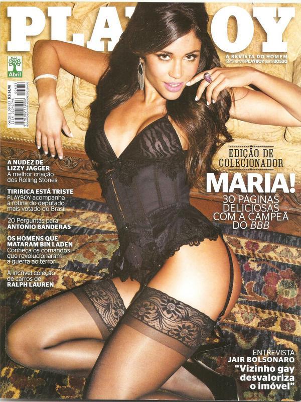 Capa da playboy de junho  de 2011 com a Maria Melilo BBB 11