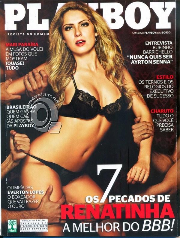 Capa da playboy de maio  de 2012 com a Renata Davila