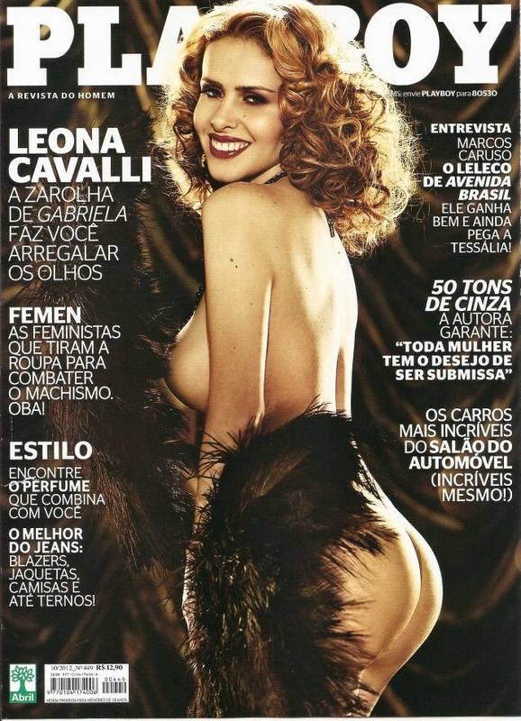 Capa da playboy de outubro  de 2012 com a Leona Cavalli
