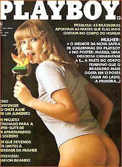 Capa da playboy de abril  de 1979 com a Ruthy Ross