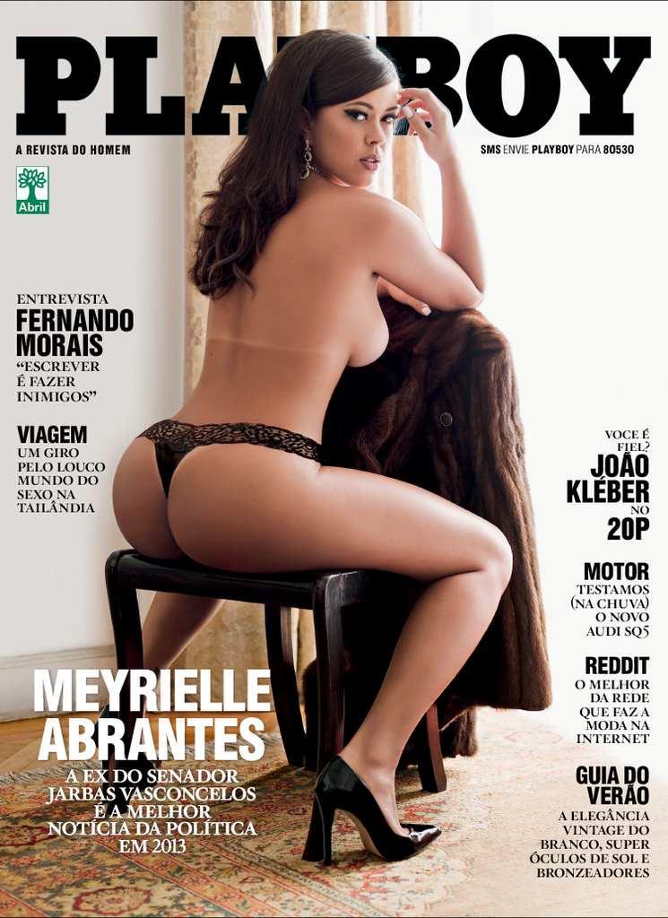 Capa da playboy de novembro  de 2013 com a Meyrielle Abrantes