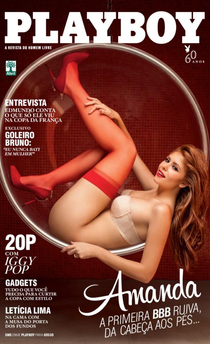 Capa da playboy de maio  de 2014 com a Amanda Gontijo